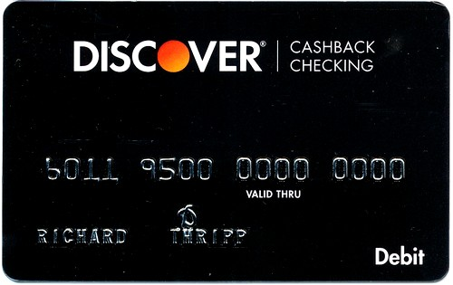 The Discover Cashback Checking debit card