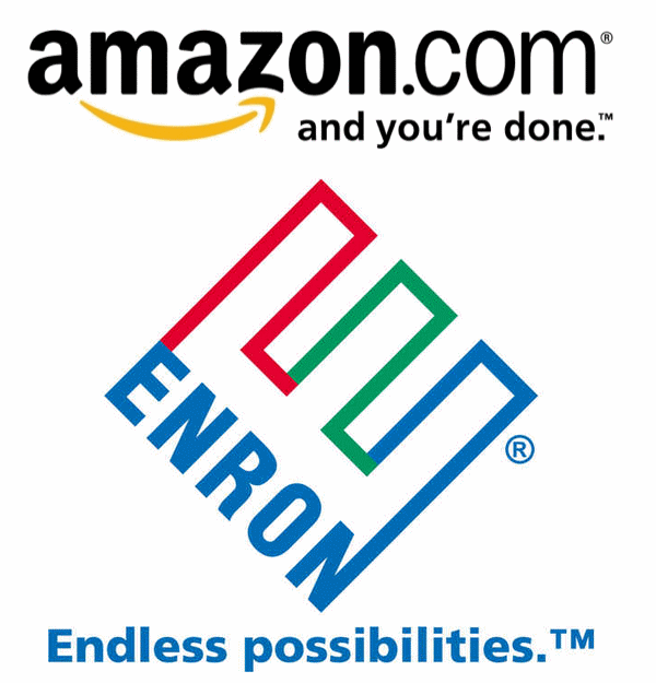 Amazon and Enron logos