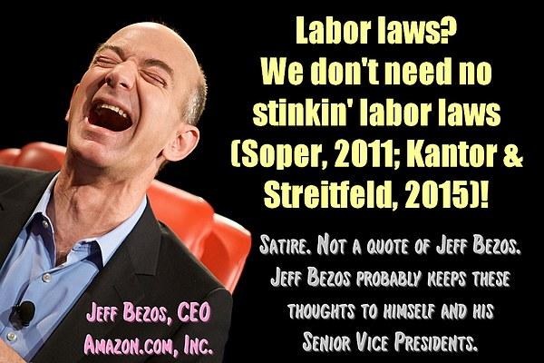 Amazon and Labor Laws (satire)