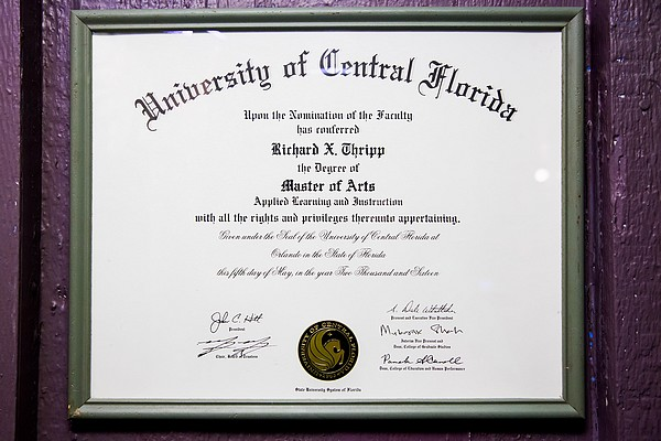 Richard Thripp's M.A. Degree