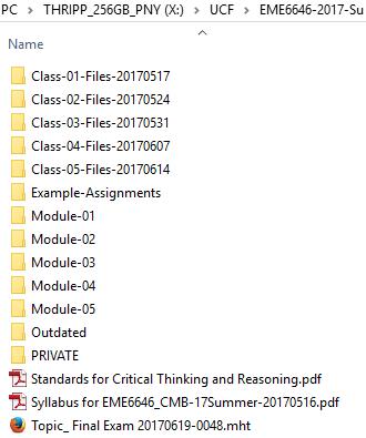 Example List of Subfolders
