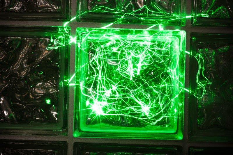 Glass Laser Block