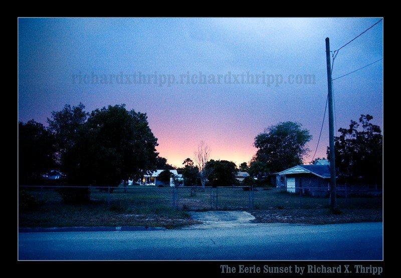 The Eerie Sunset