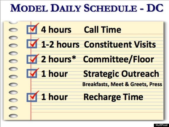 Congressional telemarketing schedule