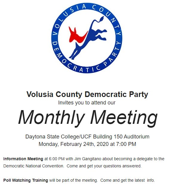 Daytona Beach DEC meeting on 2/24/2020