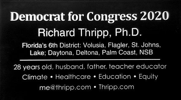 Richard Thripp for Congress business card