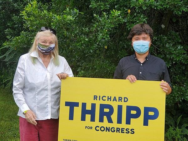 Kim O'Connor with Richard Thripp