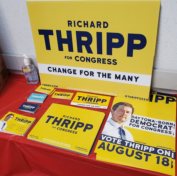 Print designs for Richard Thripp for Congress campaign by Emily Humphrey