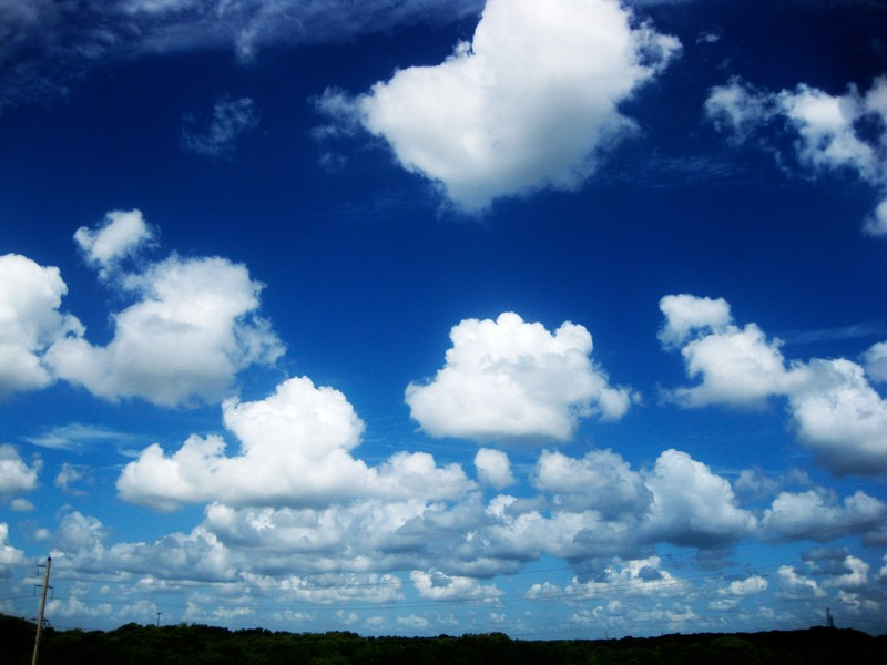 Photo: Beautiful Blue Sky with Clouds