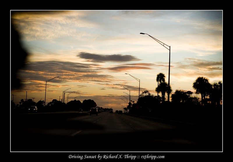 Driving Sunset