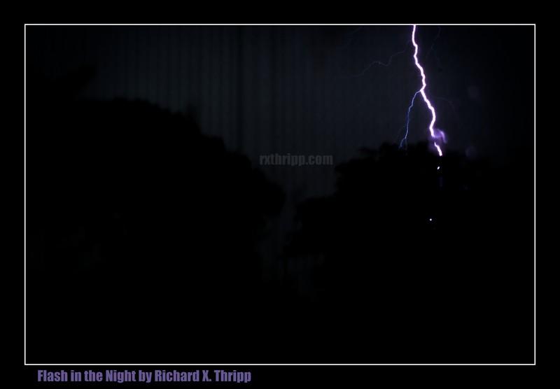 Flash in the Night — a bolt of lightning brightens the dark sky