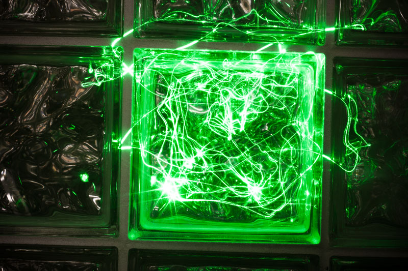 Photo: Glass Laser Block