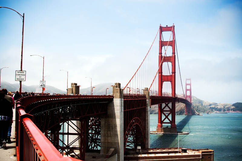 Photo: Golden Gate Bridge Side View