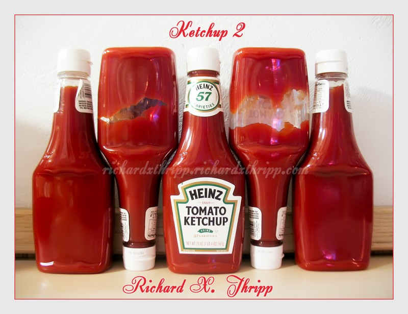 Ketchup 2 — a creative arrangement of ketchup bottles