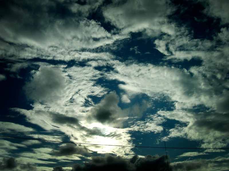 Photo: Mixed-Up Clouds