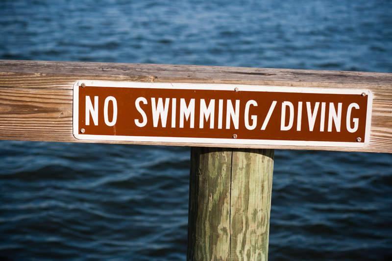 Photo: No Diving