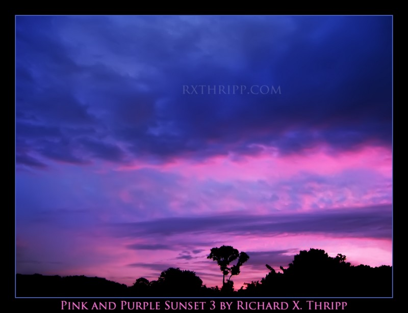Pink and Purple Sunset 3 — a psychedelic, neon sky