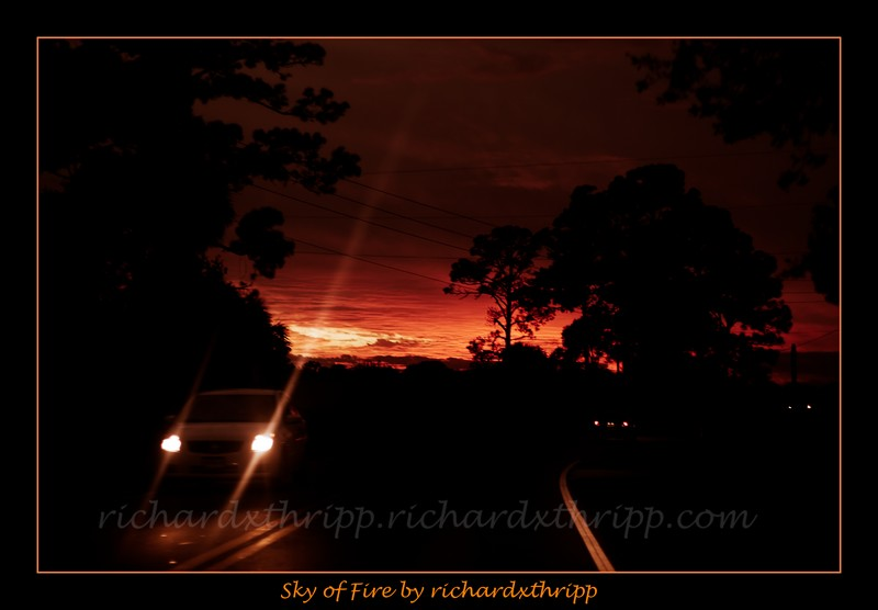 Sky of Fire — a vivid red sunset