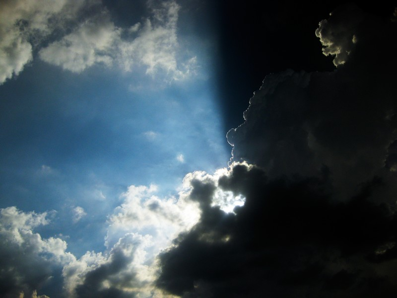 Photo: Sun Behind Clouds