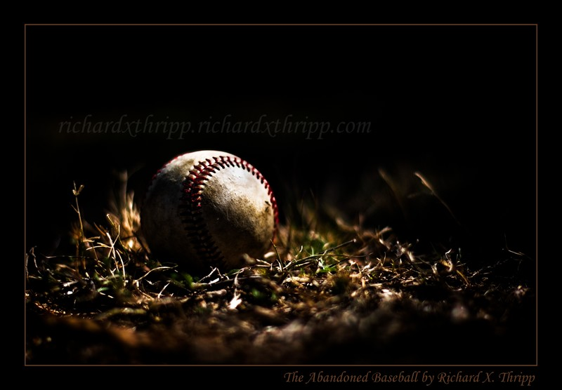 The Abandoned Baseball — the game is over, and the ball forgotten