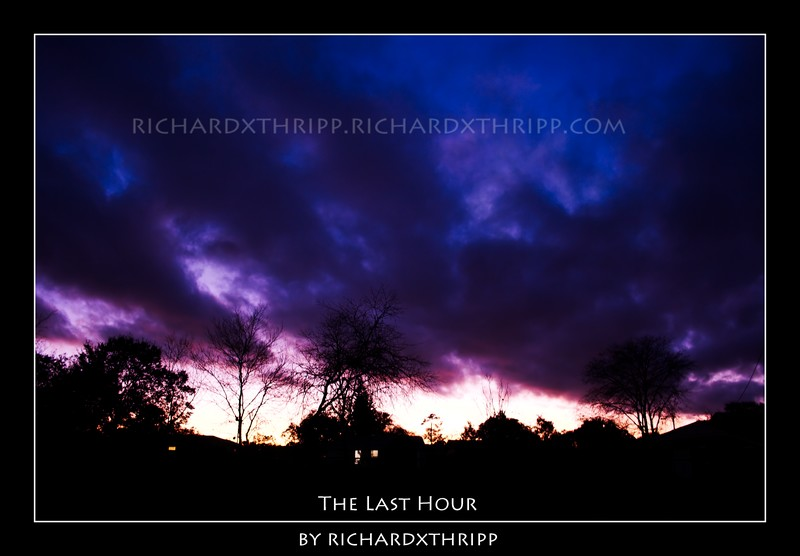 The Last Hour — a striking purple sunset