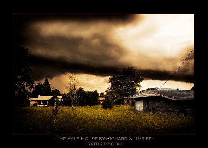 The Pale House — a ghost house with dark clouds