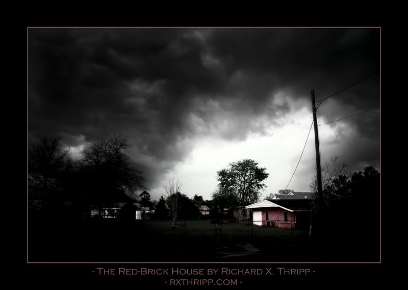 The Red-Brick House — black clouds threaten a lonely abode