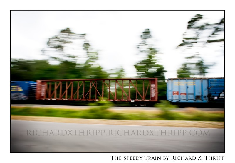 The Speedy Train — a clear train in a blurry world