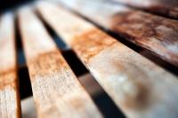 Wooden Bench Macro