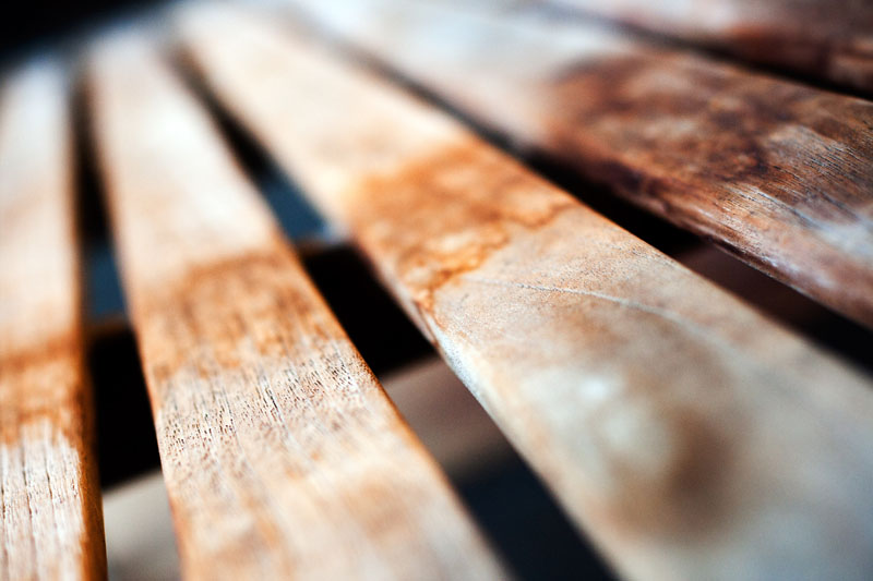 Photo: Wooden Bench Macro