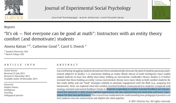 It's ok — Not everyone can be good at math